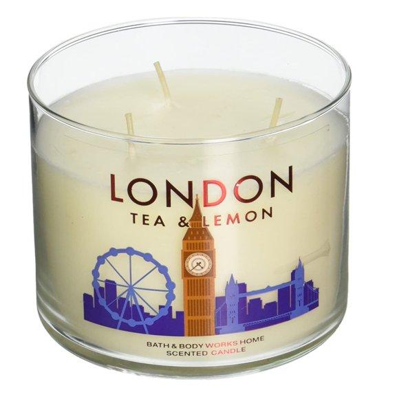 Bath & Body Works London Tea & Lemon 3-Wick Candle